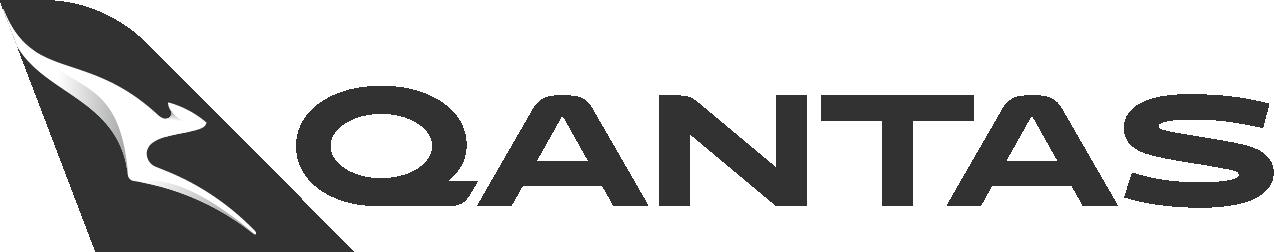 Qantas airlines logo 2017 black white png image